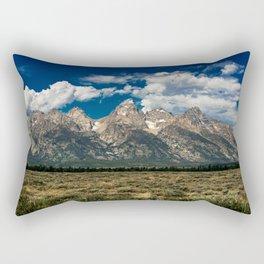 The Grand Tetons - Summer Mountains Rectangular Pillow