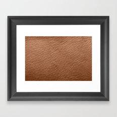 Leather Texture (Tan) Framed Art Print