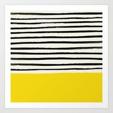 Sunshine x Stripes Art Print