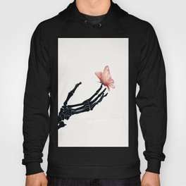 Butterfly on Skeleton Hand Hoody