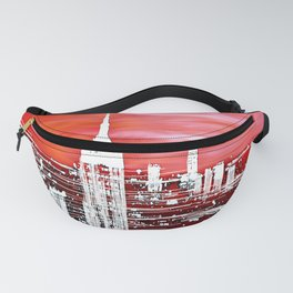 Abstract Red In The City Design Fanny Pack