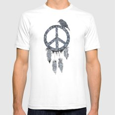 A dreamcatcher for peace White Mens Fitted Tee SMALL