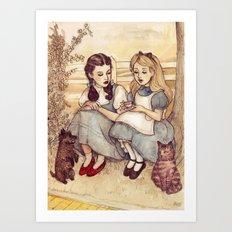 Dorothy and Alice Art Print