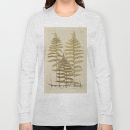 Vintage Fern Botanical Long Sleeve T-shirt