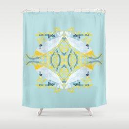 Blue Cockatoos Shower Curtain