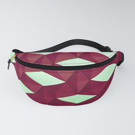Trapez 4/5 Red and green by Brian Vegas Fanny Pack
