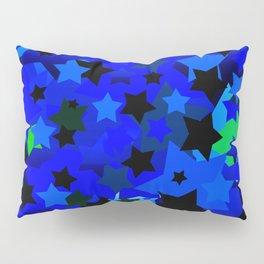 Punk Rock Stars Blue Pillow Sham