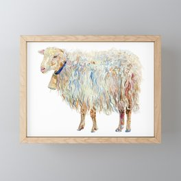 Wooly Sheep Framed Mini Art Print