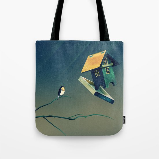Flying Bird...house Tote Bag