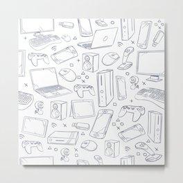 Computer Gaming Video Game Pattern Metal Print
