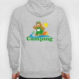 Cartoon Brown Bear camping Hoody