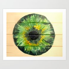 EVER-GREEN IRIS Art Print