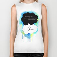 fault Biker Tanks featuring The Fault in Our Stars by Awful Artist