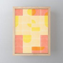 Retro Tiles 01 #society6 #pattern Framed Mini Art Print