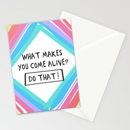 Come Alive! Positive Type Stationery Cards
