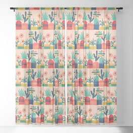Plant mania Sheer Curtain