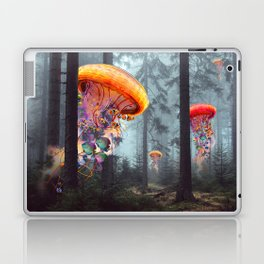 ElectricJellyfish Worlds in a Forest Laptop & iPad Skin