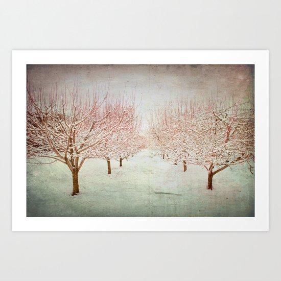 January Romance Art Print