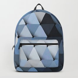 Triangles Grays Blues Backpack