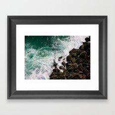 Sea and Rocks Framed Art Print