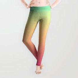 Ombre gradient digital illustration pink, blue, orange colors Leggings