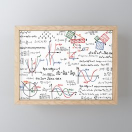 Math Cheat Sheet Framed Mini Art Print