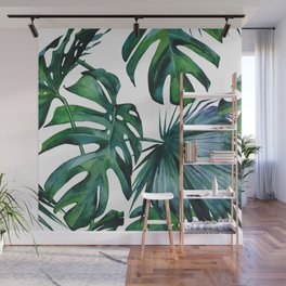 Tropical Palm Leaves Classic Wall Mural