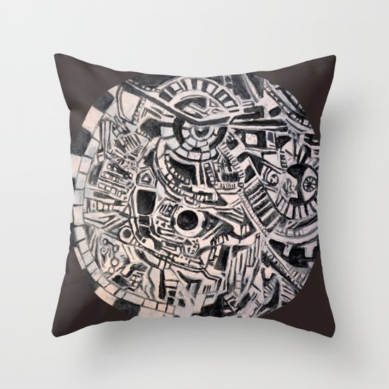 """centrifugal"" Throw Pillow"