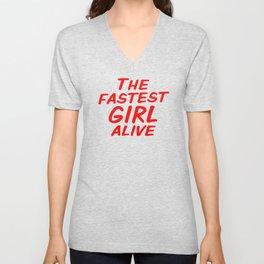 The Fastest Girl Alive Unisex V-Neck