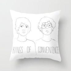 Kings of Convenience Throw Pillow