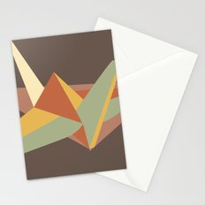 Abstract Crane Stationery Cards