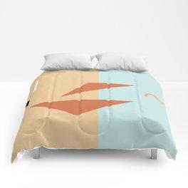 Croissant sandwich Comforters