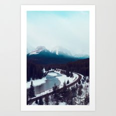 Canadian Rocky Mountains, Banff, Lake Louise, Winter Landscape Art Print