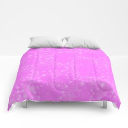 Spring pastels gently pearl and pink circles and ellipses with the image of abstract flowers on a cr Comforters
