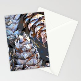 Blue Cones Stationery Cards