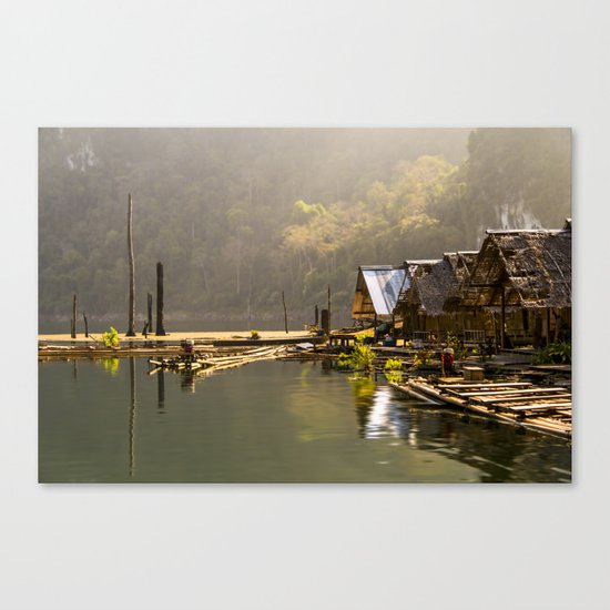 Morning in village Canvas Print