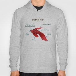 Anatomy of a Betta Fish Hoody