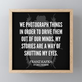 41 |  Franz Kafka Quotes | 190517 Framed Mini Art Print