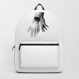 Fading Hands (Black and White) Backpack