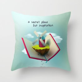 A secret place for inspiration Throw Pillow