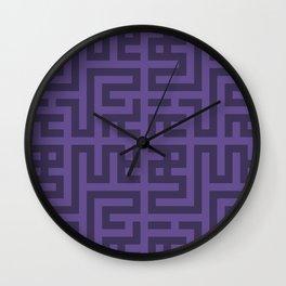 Snake Very Violet Wall Clock
