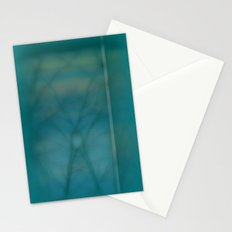 Abstract ~ Twigs at Sunset  Green Stationery Cards