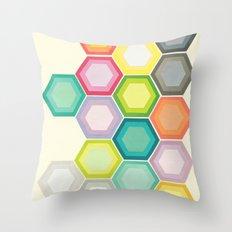 Honeycomb Layers Throw Pillow