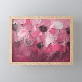 Rose Garden in Shades of Peachy Pink Framed Mini Art Print