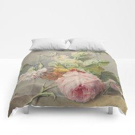 Georgius Jacobus Johannes van Os - Flower arrangement - 1800/1825 Comforters