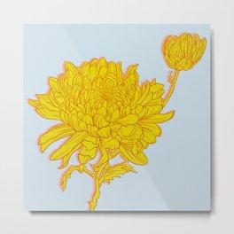 Chysanthemum in Saffron Metal Print