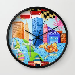 Baltimore, Maryland Wall Clock
