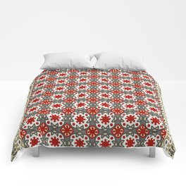 V12 Red Traditional Moroccan Rug Pattern. Comforters