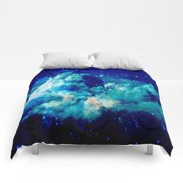 A Deep Cerulean Dream Comforters