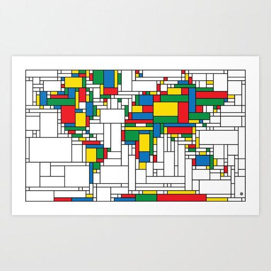 World Map - Modern Art Print